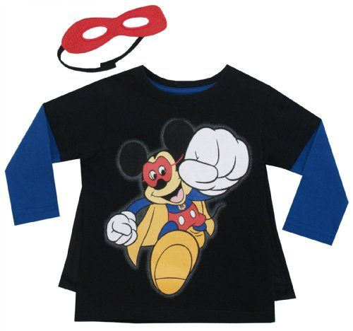 Disney Little Boys' Mickey Mouse Long Sleeve Tee W Cape&Mask, Black, 2T Disney http://www.amazon.com/dp/B00EF36UWA/ref=cm_sw_r_pi_dp_-TJ.tb11B5H5D
