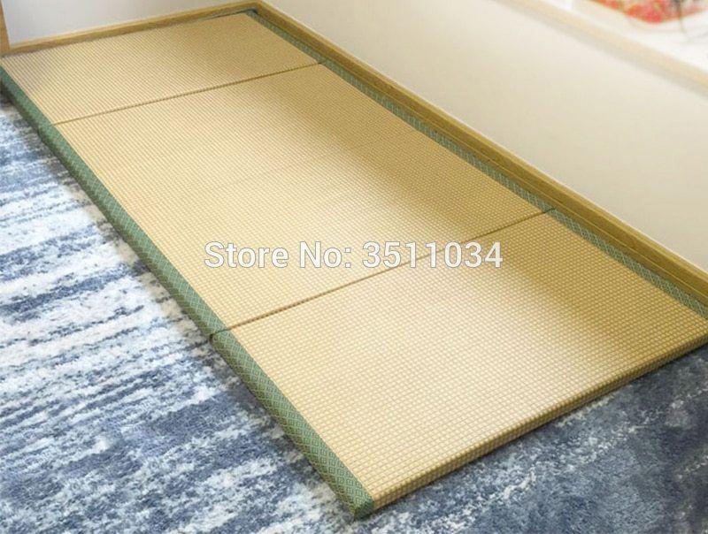 Brand New New Japanese Traditional Foldable Floor Straw Mat Tatami Mattress Mat For Yoga Sleeping Tatami Mat N Tatami Mat Japanese Traditional Face Massage Oil