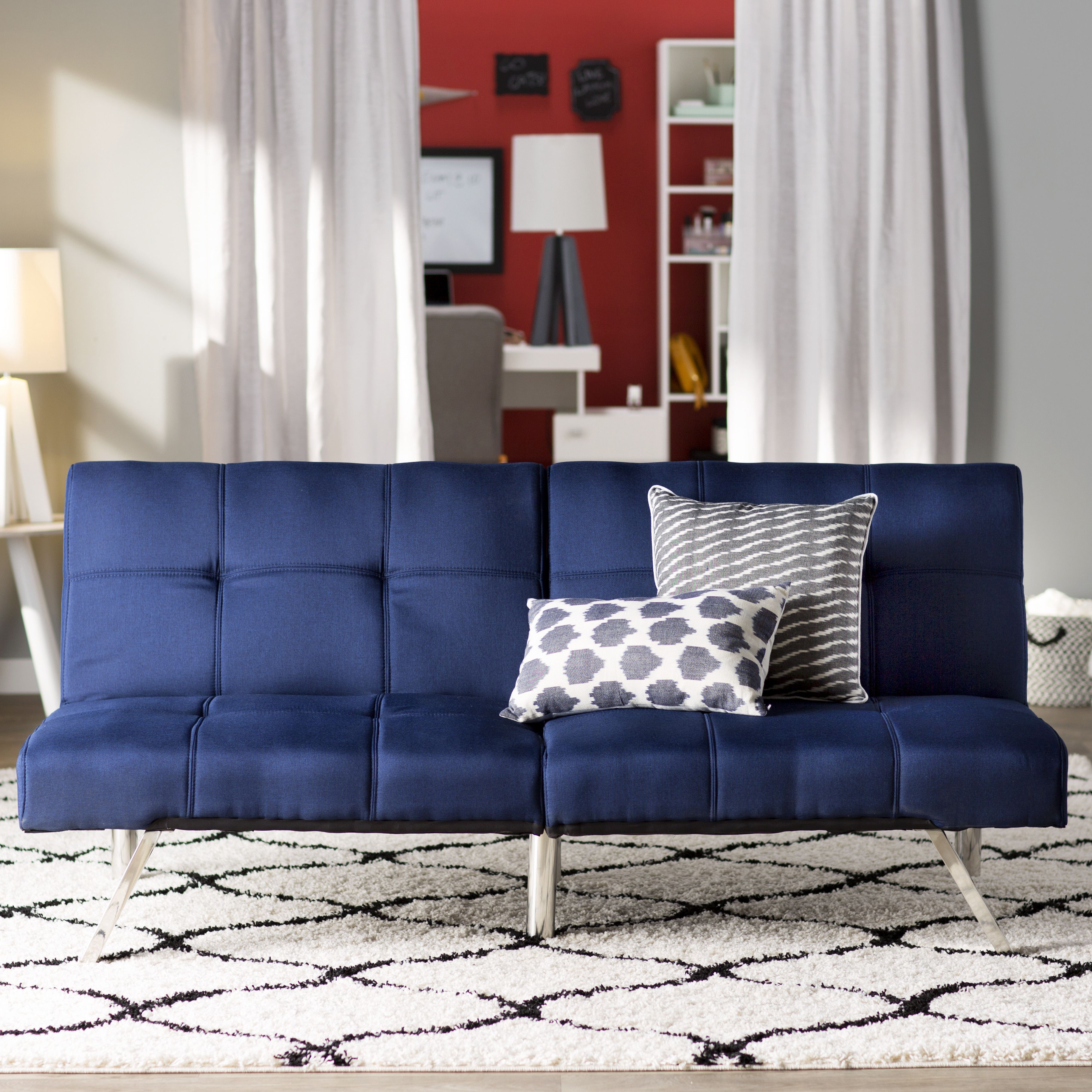 Zipcode design piper upholstered convertible sofa