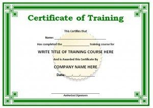 Training certificate template certificate pinterest training training certificate template yadclub Choice Image