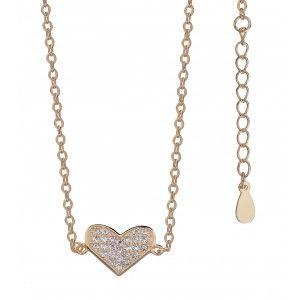 Lancuszek Z Serduszkiem Zloty Naszyjnik Celebrytek Gold Necklace Necklace Arrow Necklace