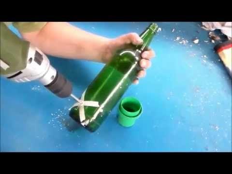 tecnica como perforar una botella de vidrio proyectos