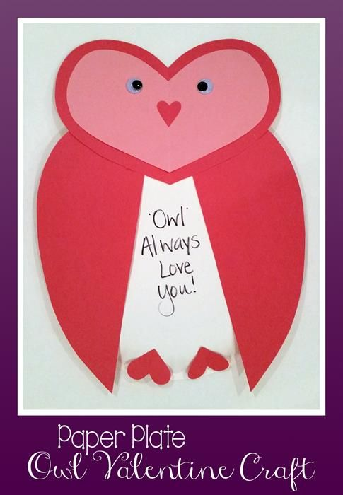 Cute Owl Valentine Paper Plate Craft!   Valentine crafts Owl and Learning  sc 1 st  Pinterest & Cute Owl Valentine Paper Plate Craft!   Valentine crafts Owl and ...