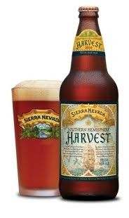Cerveja Sierra Nevada Southern Hemisphere Harvest Ale, estilo India Pale Ale (IPA), produzida por Sierra Nevada Brewing Company, Estados Unidos. 6.7% ABV de álcool.