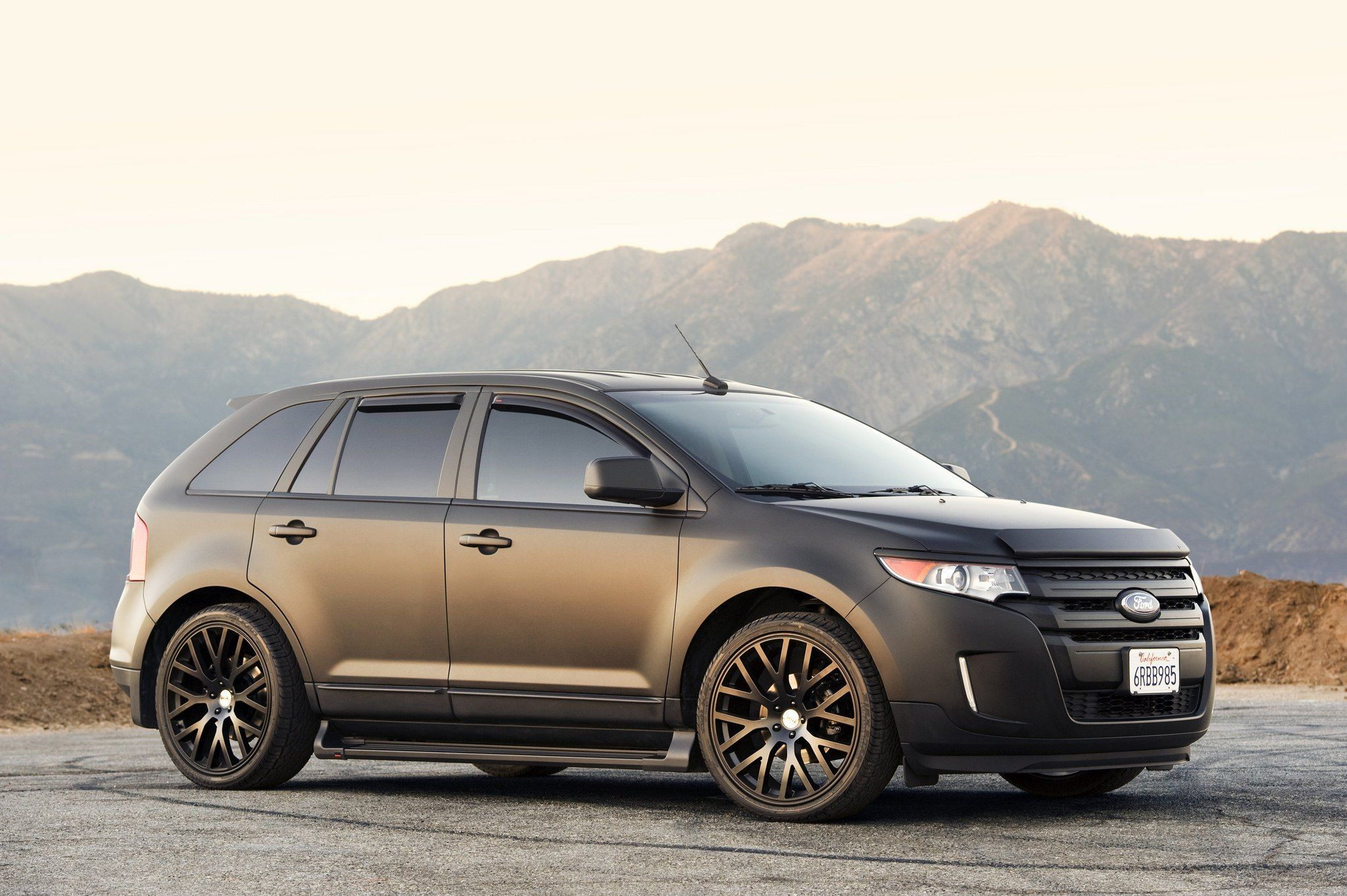 Firm And Reliable Black Matte Ford Edge Ford Edge