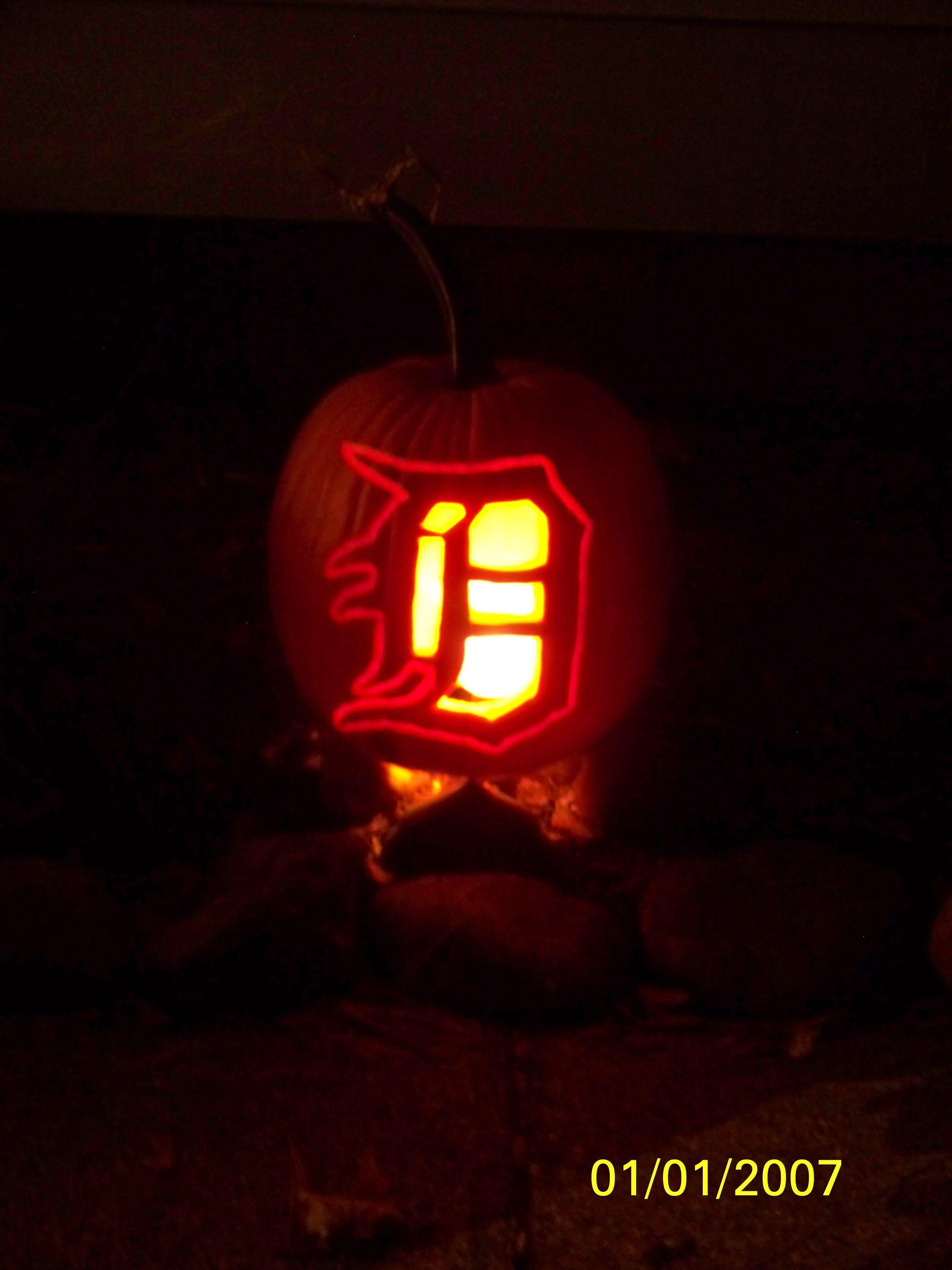 detroit tigers jack-o-lantern | halloween | pinterest | detroit