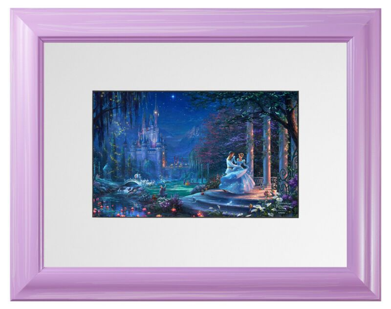 Thomas Kinkade Studios Mickey and Minnie In Hawaii Brushwork Choice of Frame