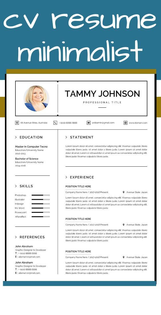 Resume And Cover Letter Template Resume Template Instant Download