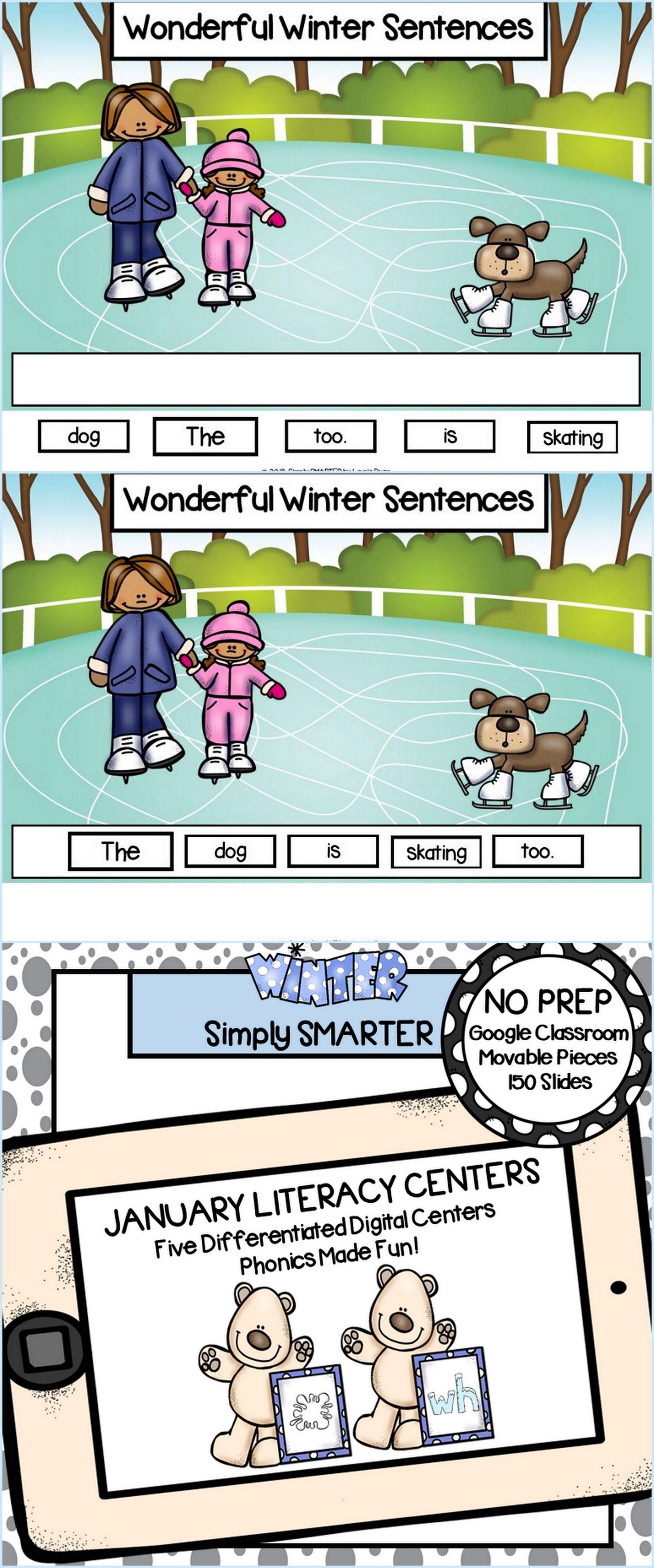 January Kindergarten Digital Literacy Centers For