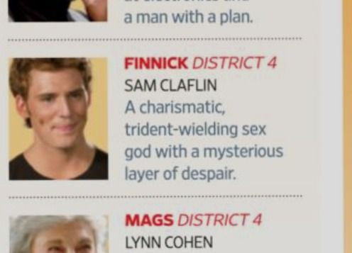 Nothing makes my day brighter than Entertainment Weekly's description of Finnick.