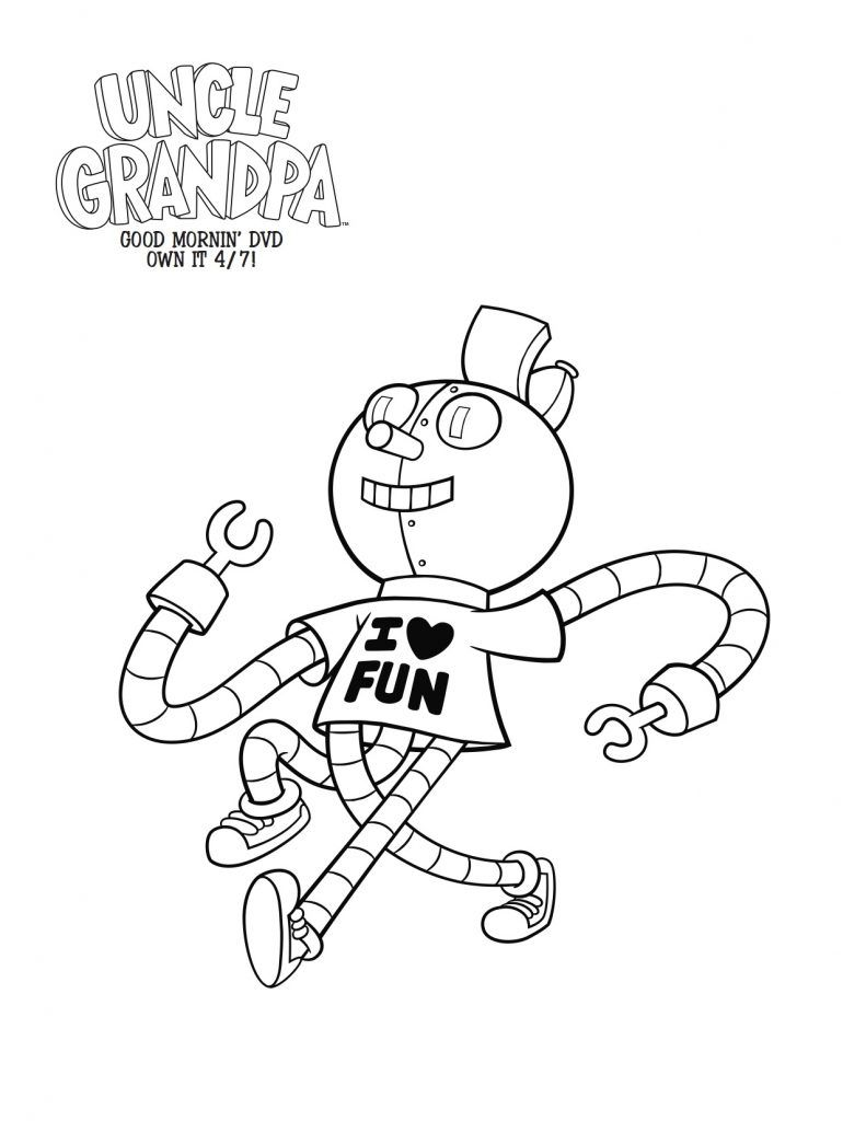 Free Printable Tiny Miracle Coloring Page from Uncle Grandpa