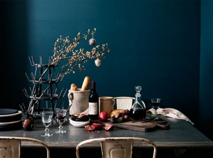 Die wunderschöne und effektvolle Wandfarbe Petrol! Living rooms
