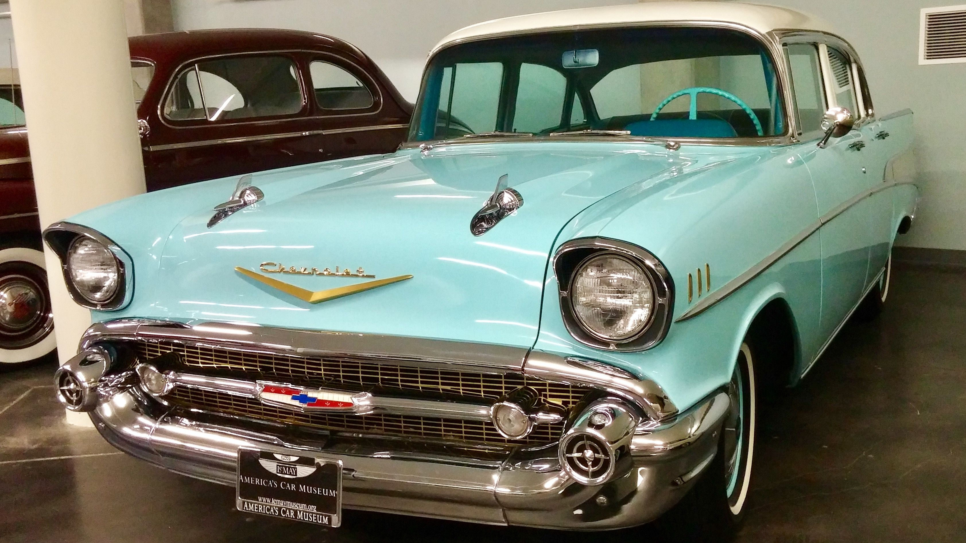 1957 Chevrolet Bel Air 4 Door Sedan In Larkspur Blue And India