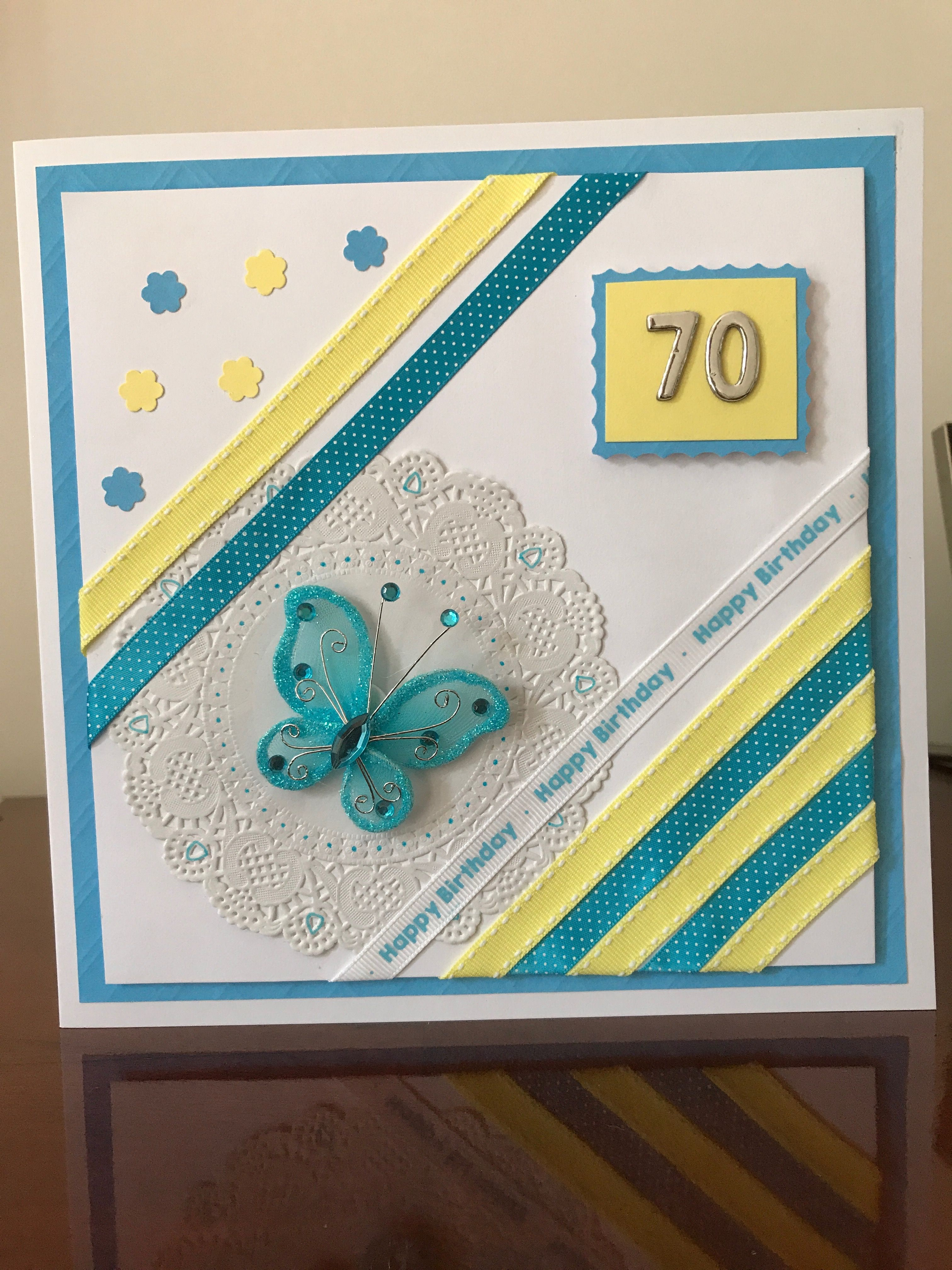 70th Birthday Card For My Dear Friend Sue My Homemade Cards