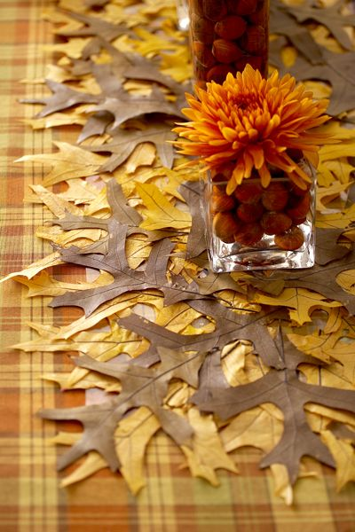 How To Create A Diy Autumn Leaf Table Runner Thanksgiving Decorations And
