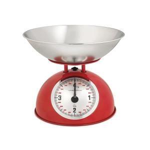 Home m canique balance de cuisine rouge wilma inoxydable Balance de cuisine rouge