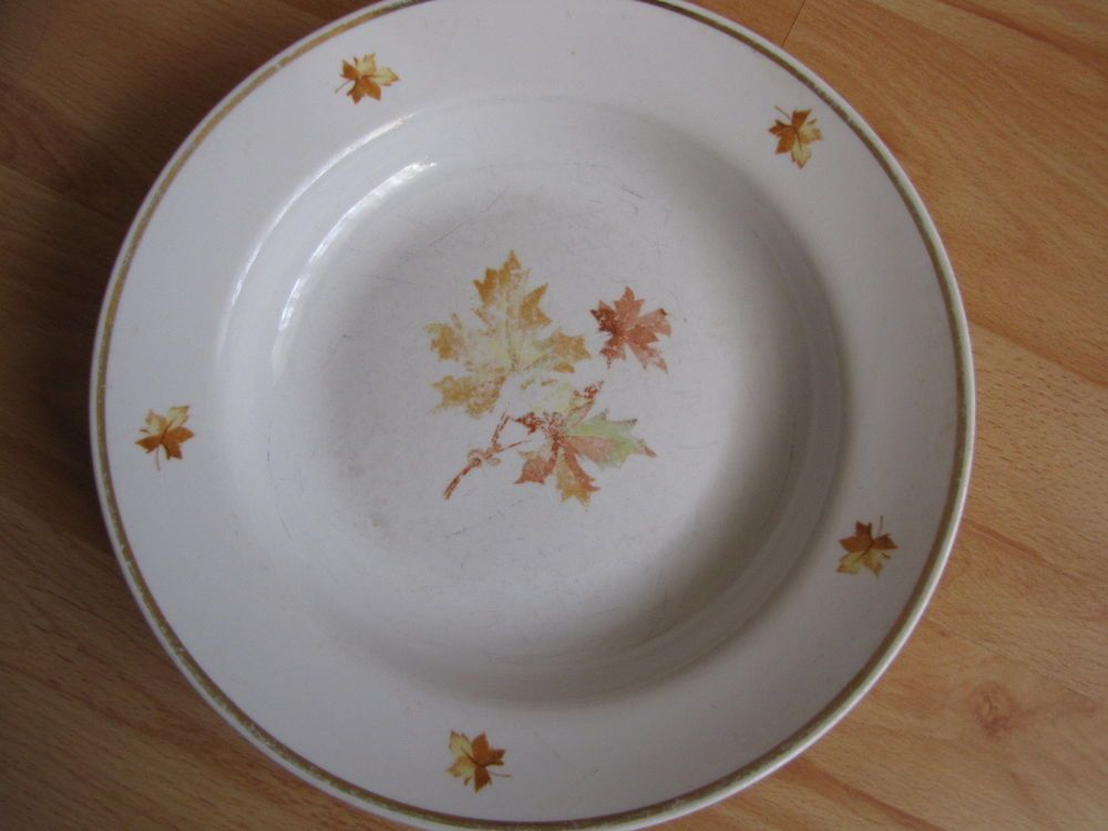 Antique Russia USSR Dulevo plate maple leaf petal Russian Decor collectible #Dulevo