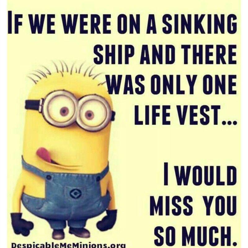 Miss You Ha Ha Funny Quotes Funny Minion Jokes