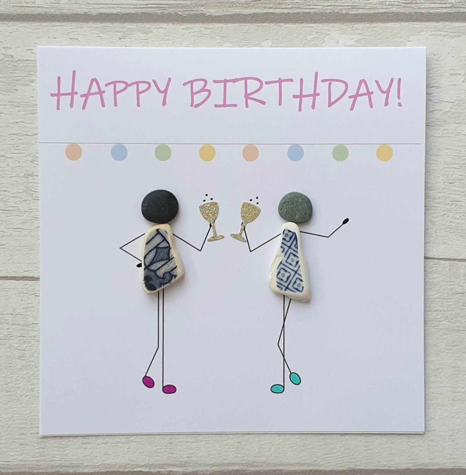 Happy Birthday Card For Best Friend Unique Funny Handmade Etsy Happy Birthday Card Funny Birthday Cards Birthday Cards For Her