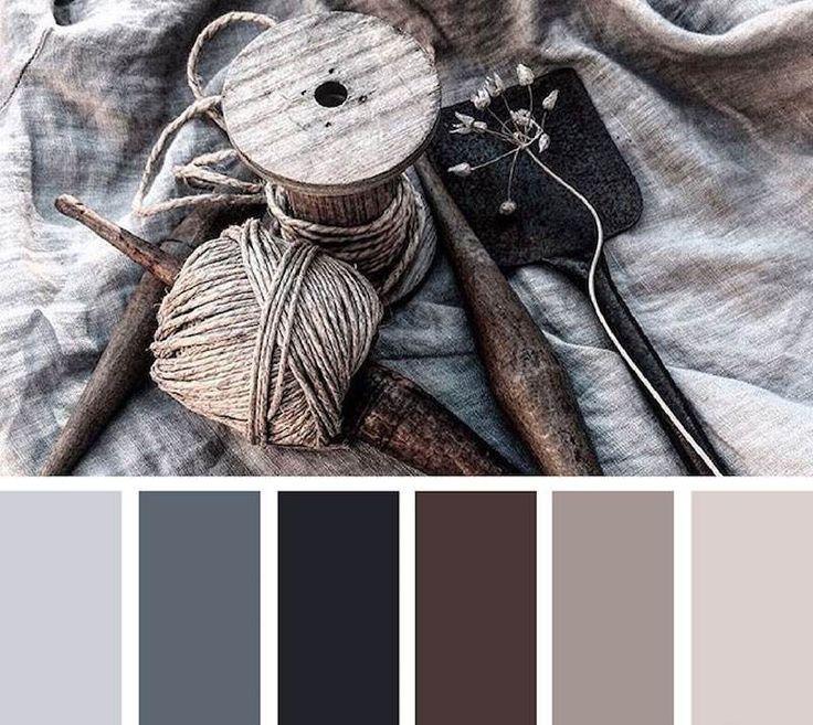 Deco Salon Palette Coloree De Gris Perle Graphite Anthracite