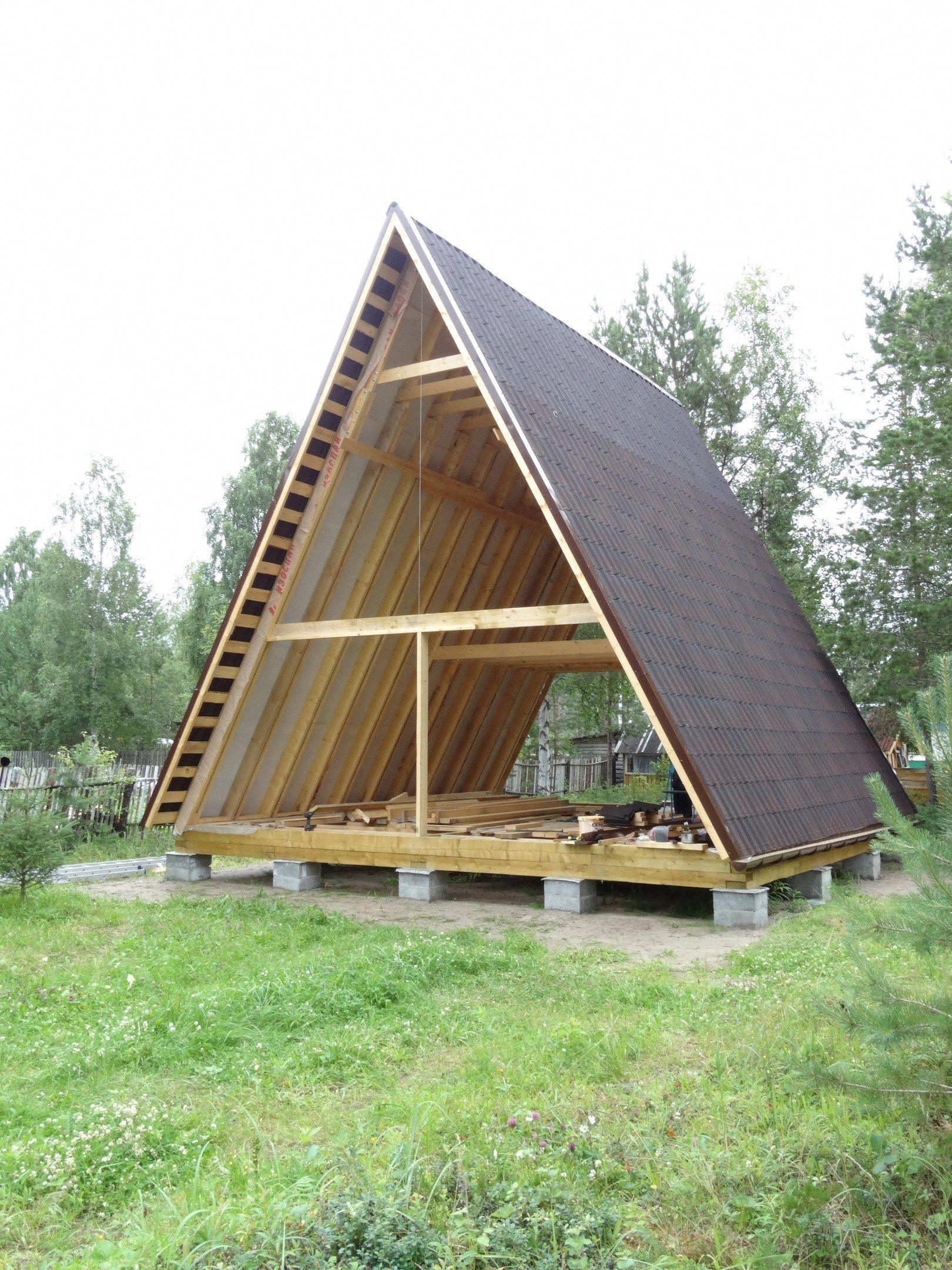 The Return Of A Frame Cabins Shalash Dom Gostevye Domiki