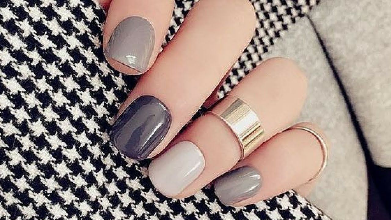 Simple Winter Short Nails Art Design Ideas  in