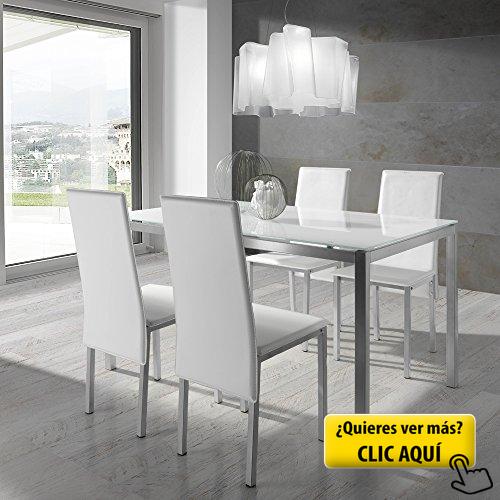 Conjunto de mesa y sillas Blanco #silla #comedor | Sillas de comedor ...