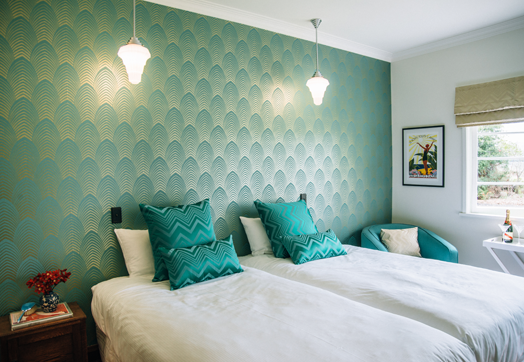 Wallpapers are a feature of each room at Meadowood Guest