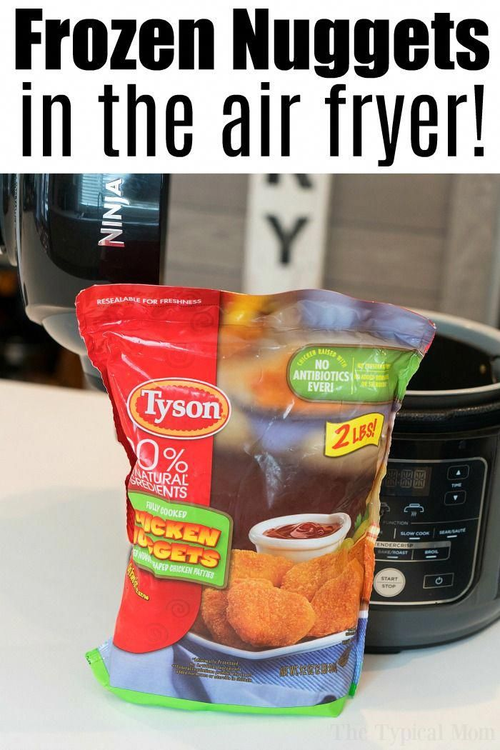 Air fryer frozen chicken nuggets in your Ninja Foodi or