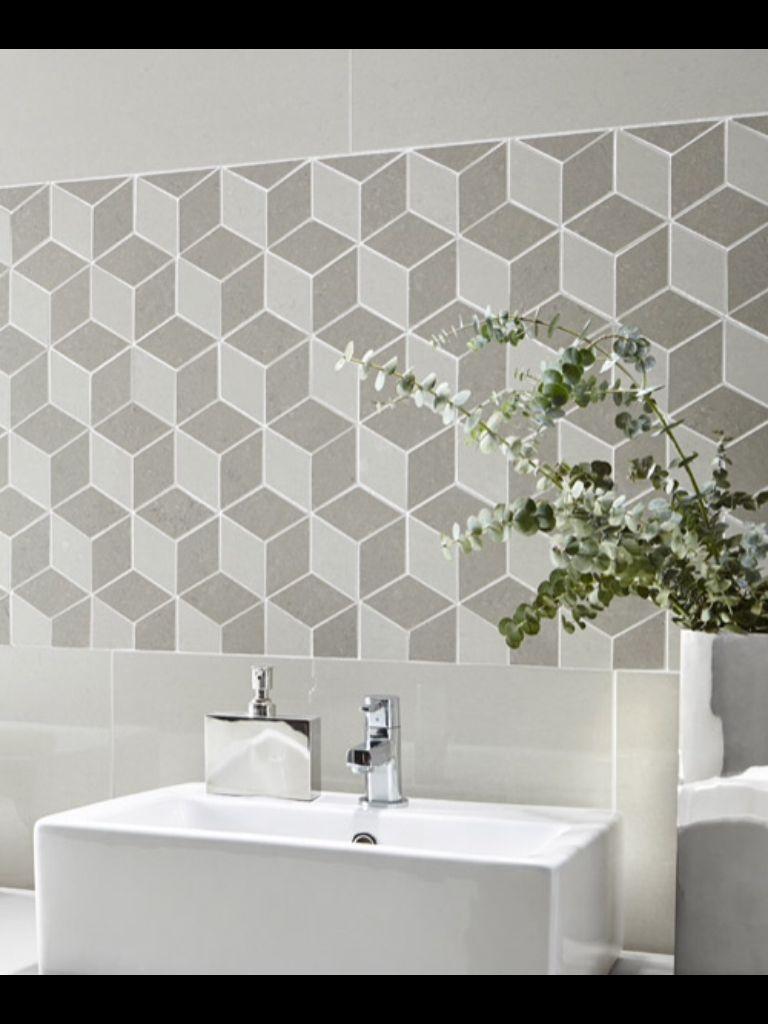 Regal Grey Mosaic With Regal Vanilla Polished Wall Tiles Topps Tiles Ceramic Tile Floor Bathroom Bathroom Floor Tiles
