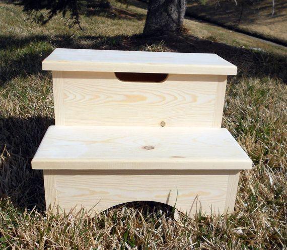 Storage Box Step Stool Unfinshed 12\
