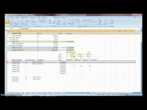 Estimating With Excel For The Small Contractor  Quantity