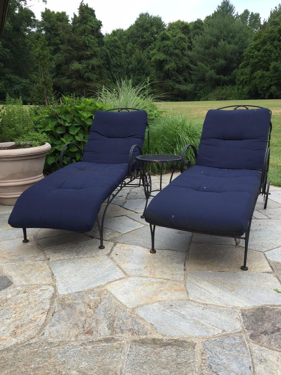 Watercress springs estate sales fairfield ct estate sale 600 wellington drive july 15th 16th 2016 pair of chaise lounge chairs and side table