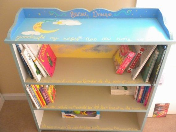Hand Painted Children S Bookcase By Aelove On Etsy Kid Room