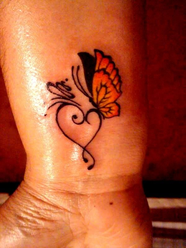 Butterfly tattoos heart tattoos small tattoo 39 s for Small heart tattoos