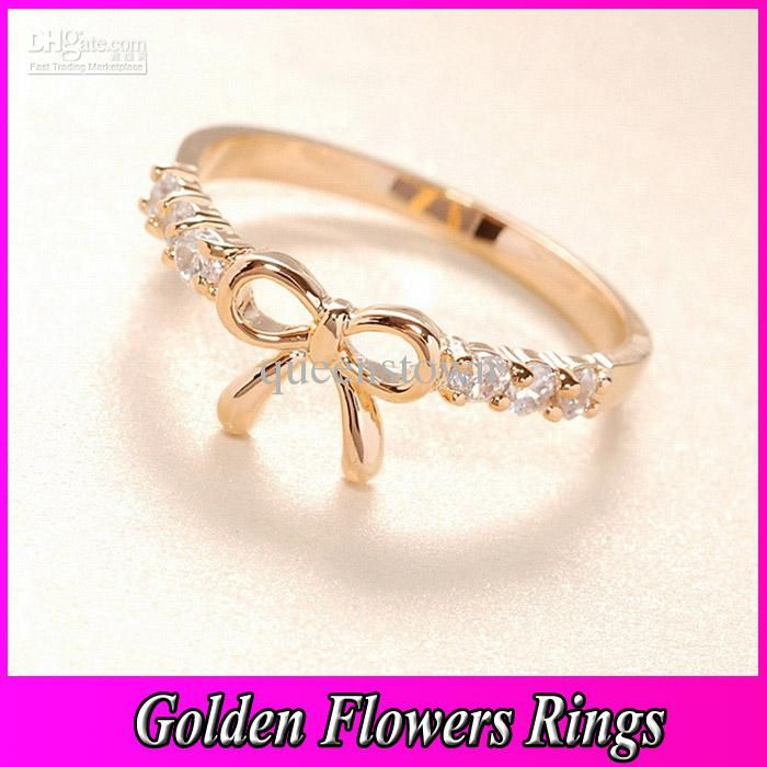 Wholesale Crystal Bow Tie Wedding Ring 2013 New Cheap Korea Lovely ...