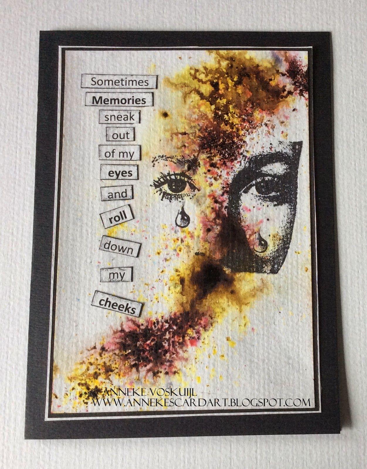 annekescardart: Memories, with Bistre  | Cards Watercolor