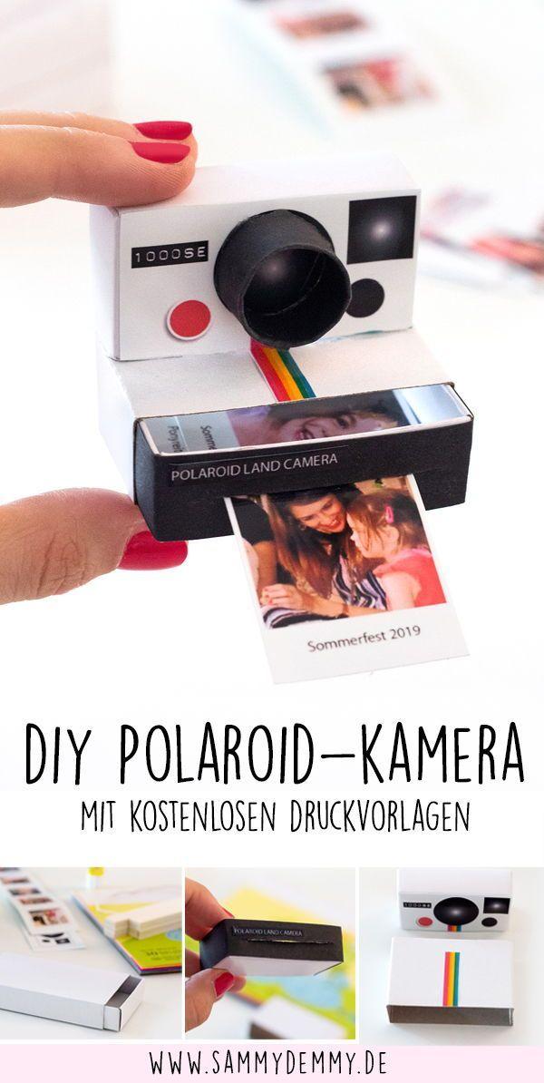 Fotogeschenk: Mini Polaroid-Kamera mit wechselnden Fotos