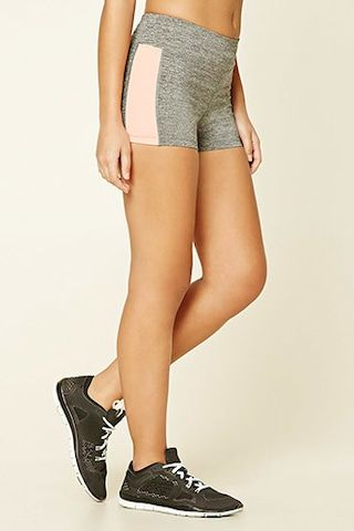 Active Heathered Striped Shorts