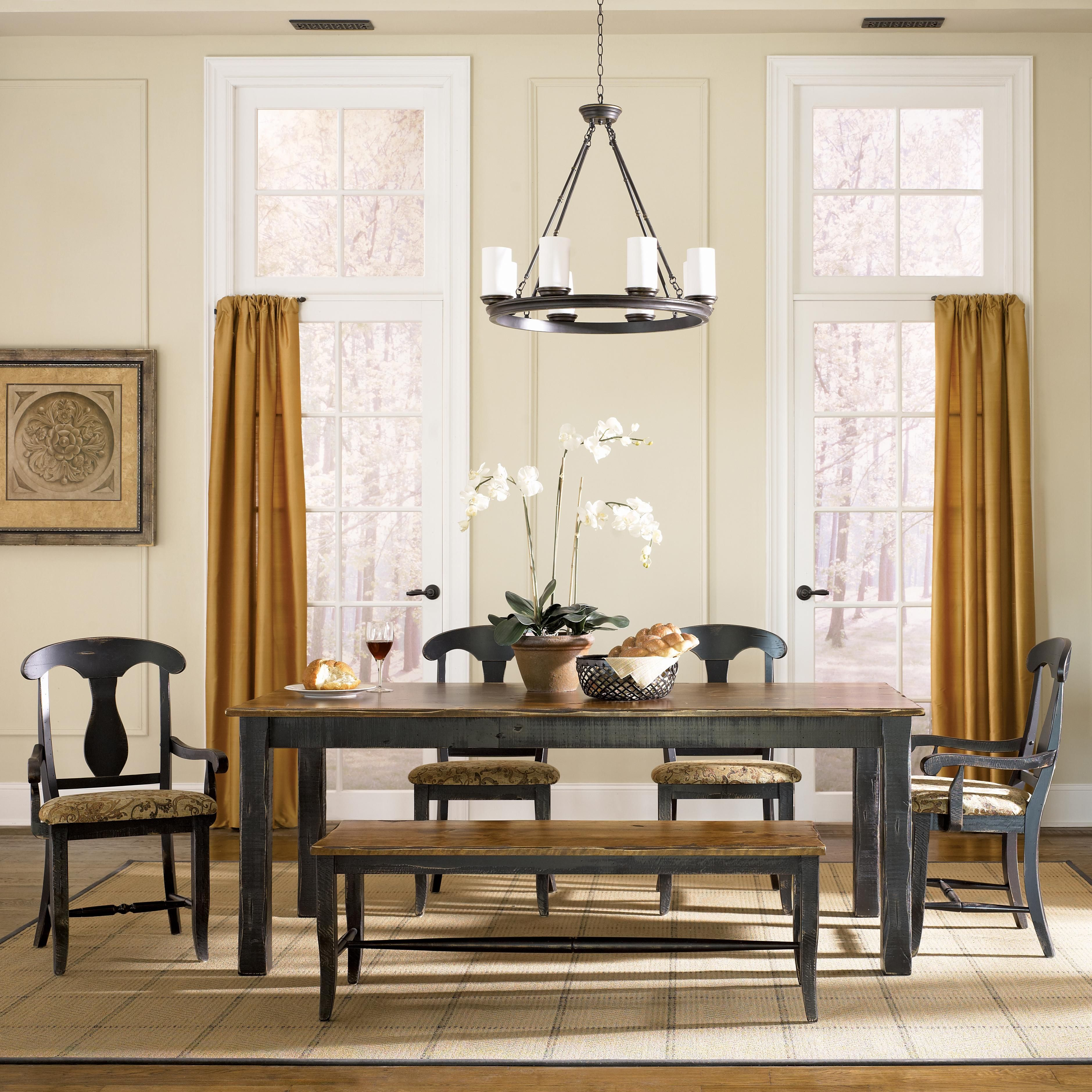 Furniture Rectangle Kitchen Table With Bench Collection: Custom Dining Customizable Rectangular Table