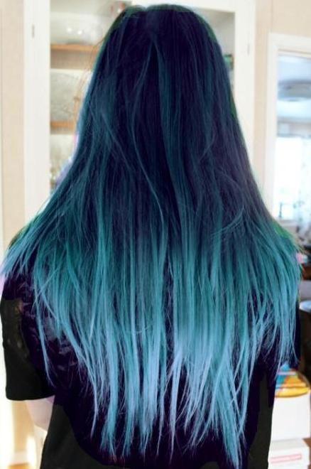 cabello azul puntas - Buscar con Google | Moda | Hair ...