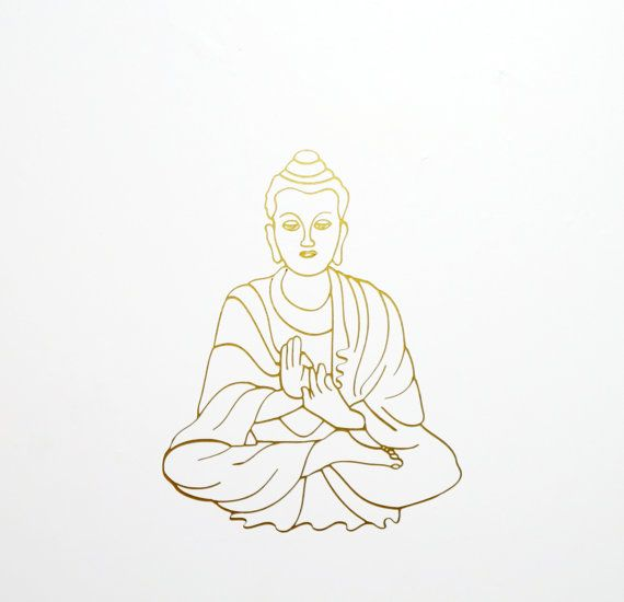 Buddha Wall Decal Removable Wallpaper Yoga Vinyl Sticker Laptop Macbook Decal Buddha Meditation Decal Mura Removable Wallpaper Macbook Decal Vinyl Sticker