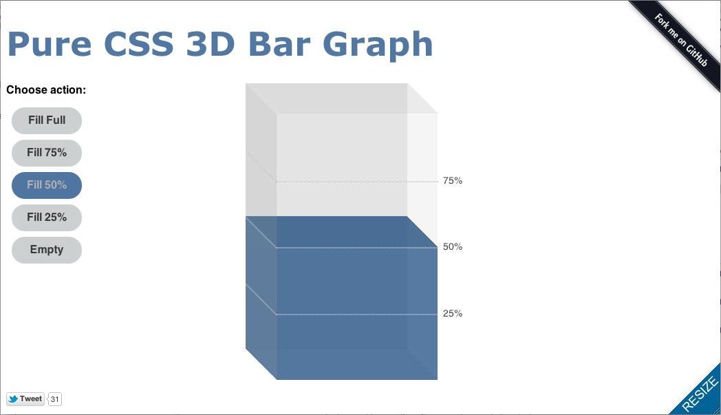 Pure CSS 3D Bar Graph #css3 | JQuery, HTML(5) & CSS(3), WordPress