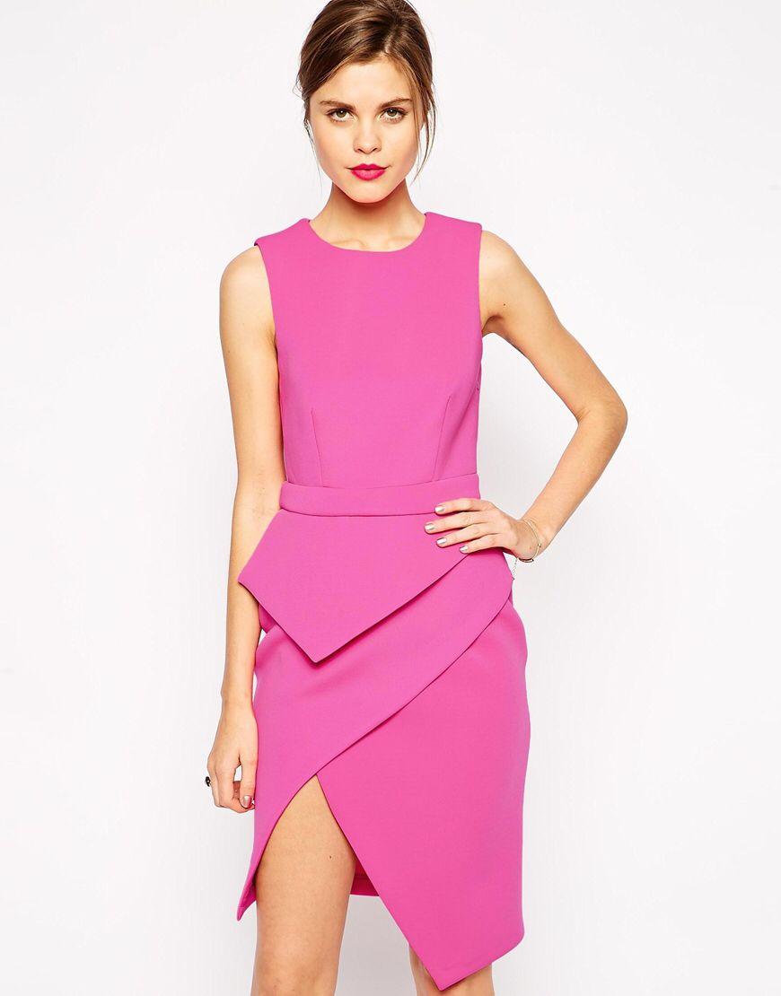 Vestido asimétrico con sobrefalda de ASOS Premium | Pinterest ...
