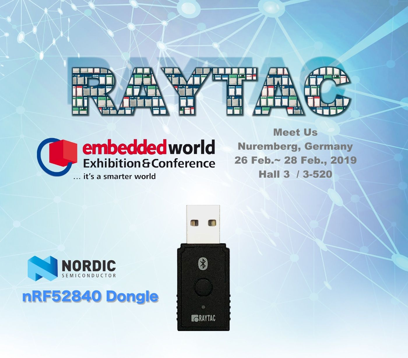 Come to meet us at Embedded World! Nuremberg, Germany 26 Feb