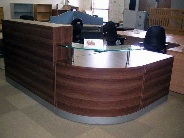 Second Hand Office Furniture Presents Office Reception Desks And Walnut Reception  Desk.