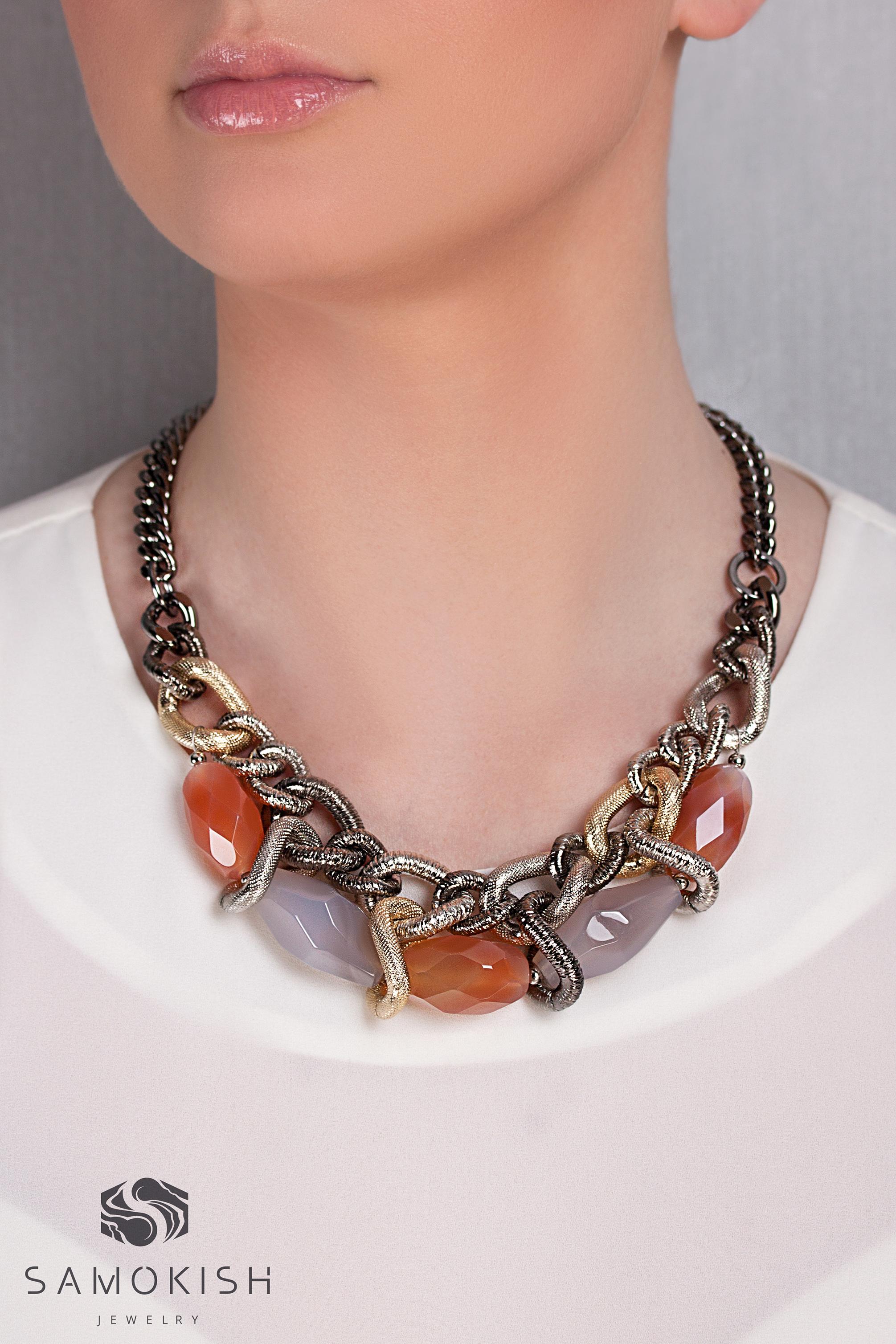 Колье Quattro djus с агатами и сердоликами. Прекрасно дополнит ваш образ и подчеркнет индивидуальность! Заказать: +38 096 159 159 5  samokishjewelry@gmail.com #samokish #jewelry #necklaces #украшения #мода #стиль