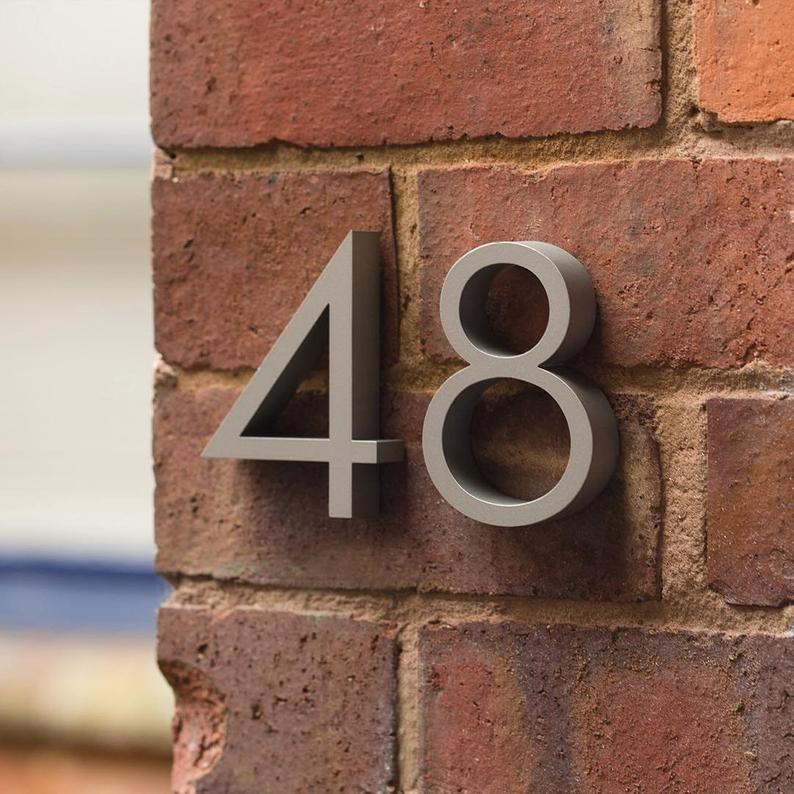 Door Numbers Mid Century Door Number Modern House Number Modern House Numbers Sign Modern House Number Front Doors Uk Contemporary house numbers uk