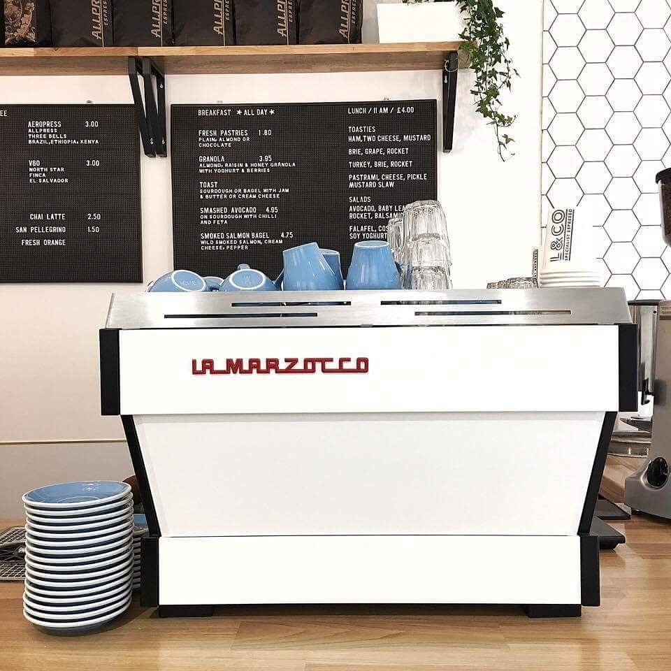 Laneway & Co on Coffee machine, Coffee shop design