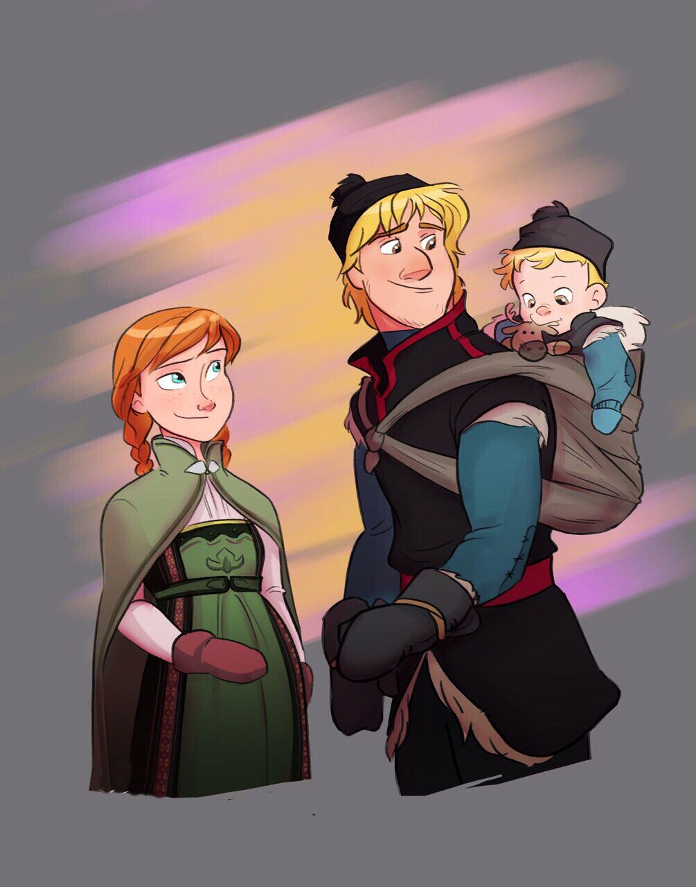 Kristoff And Anna Are Pregnant With Their Second Child Disney Frozen Disney And Dreamworks Cute Disney